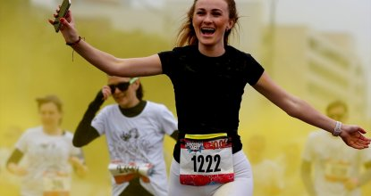 Moskova'da Color Run maratonu
