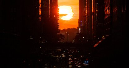 New York'ta Manhattanhenge zamanı