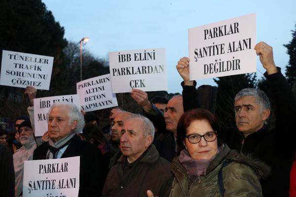 Maçka Parkı'nda protesto eylemi