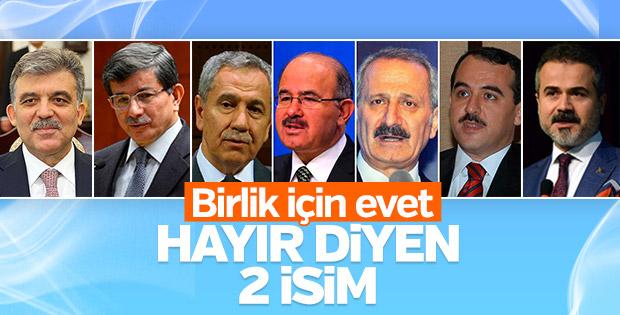 AK Parti'nin evet toplantısına iki isim katılmadı