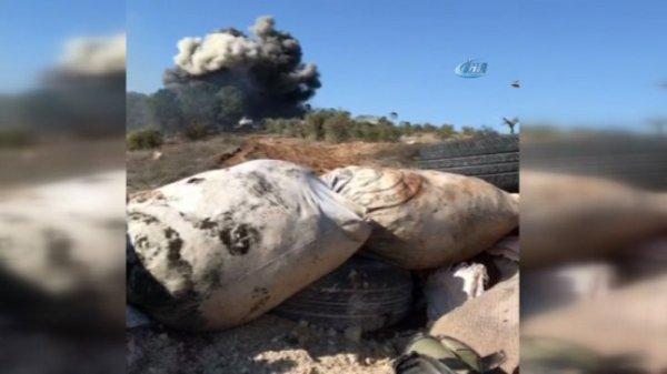 Afrin'de YPG cephaneliği patlatıldı