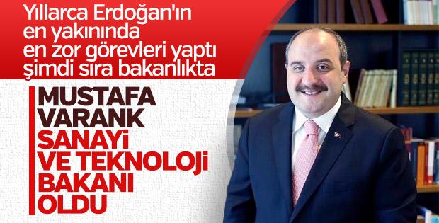 Sanayi ve Teknoloji Bakanlığı'na Mustafa Varank