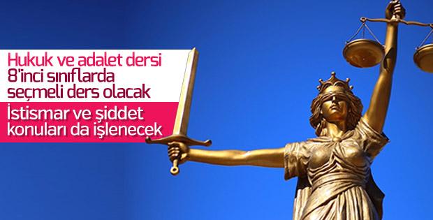 Hukuk ve adalet dersinin kapsamı genişletildi