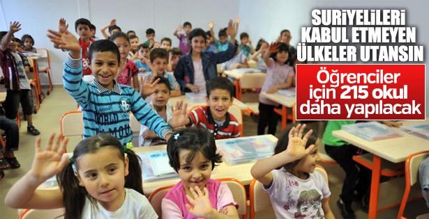 Suriyeli çocuklar için 215 yeni okul