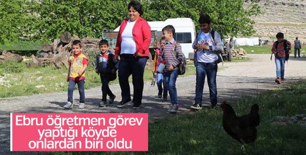 Ebru öğretmenin ikinci memleketi Silvan oldu