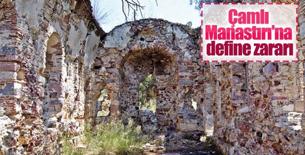 Çamlı Manastırı'na büyük zarar verdiler