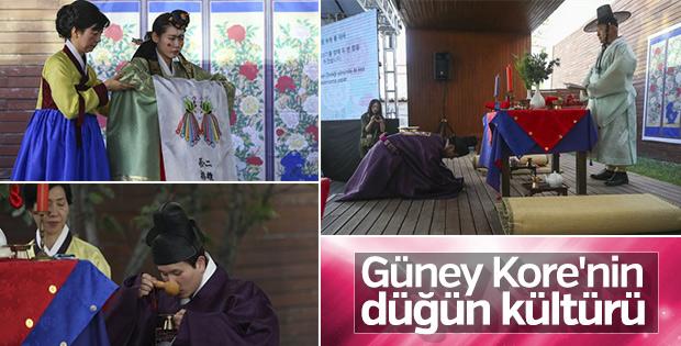 Güney Kore'nin düğün geleneği tanıtıldı