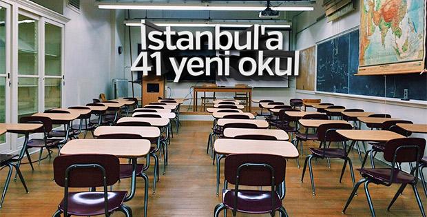 İstanbul'da yaz tatilinde 41 okul yapılacak