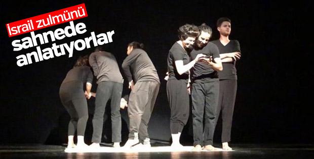 Filistinli tiyatrocular İsrail işgalini sahnede anlatıyor