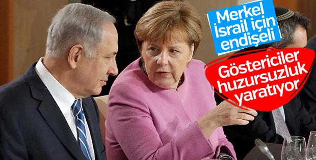 Merkel, Netanyahu ile Kudüs'ü görüştü