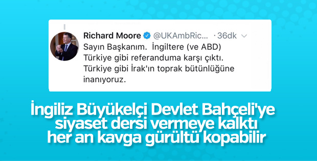 İngiliz Büyükelçi'den Bahçeli'ye tweet