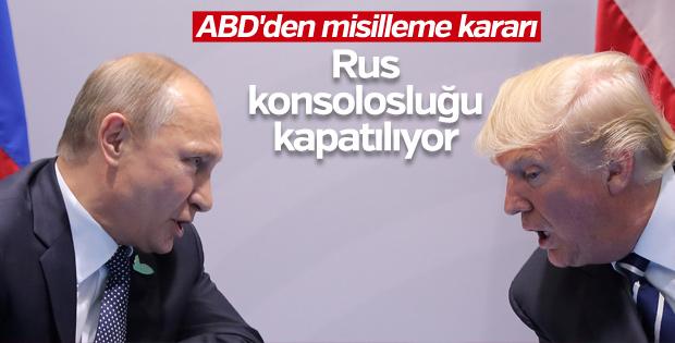 ABD, Rusya'nın bir konsolosluğunu kapatıyor