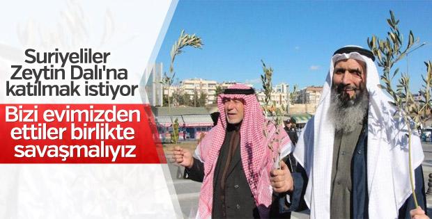 Şanlıurfa'da Suriyeliler Zeytin Dalı'na destek verdi