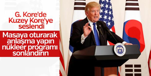 Trump'tan Kuzey Kore'ye müzakere çağrısı