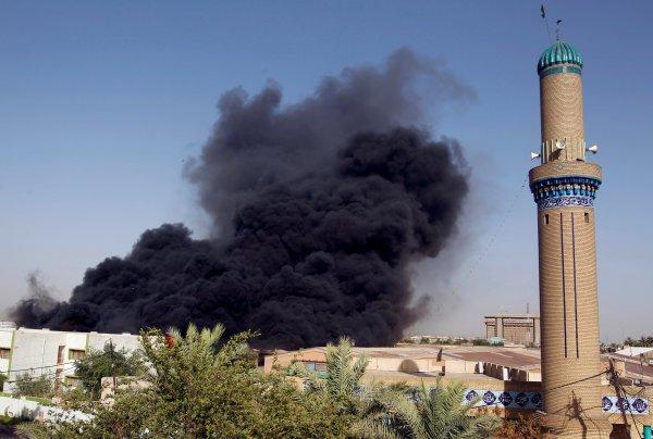 Irak'ta oyların sayıldığı merkezde yangın