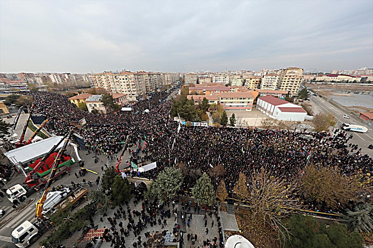 Diyarbakır'da Kudüs mitingi