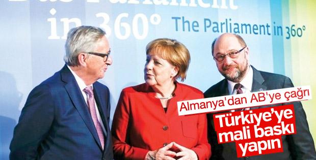 Almanya Türkiye'ye mali baskı yapılmasını istiyor