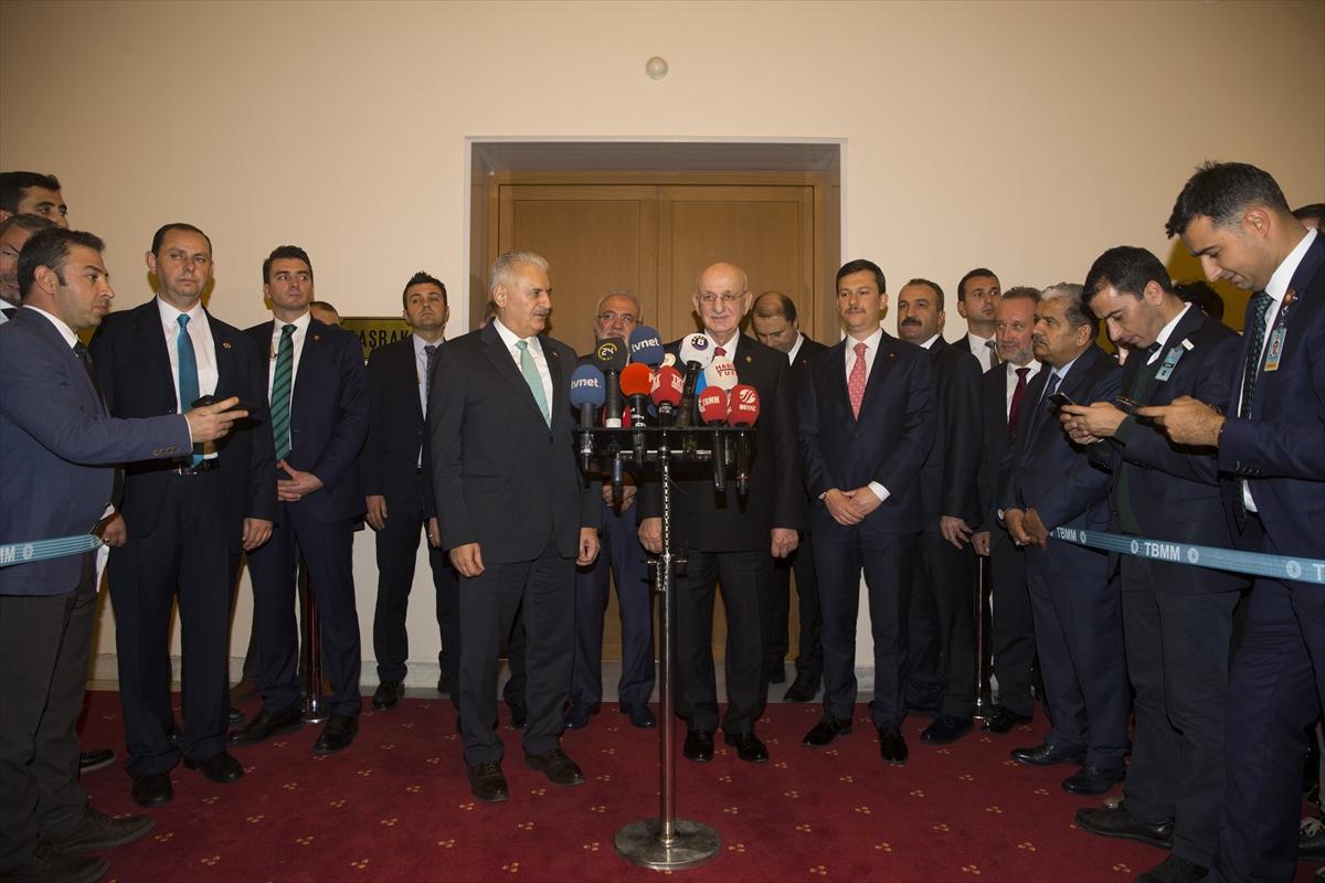 Başbakan, İsmail Kahraman'la görüştü
