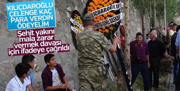 Kılıçdaroğlu'nun dava açtığı şehit yakını ifade verdi