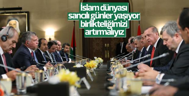 Erdoğan'dan birlik çağrısı