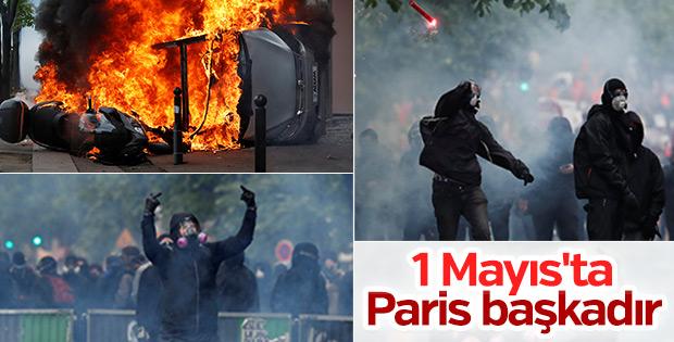 Fransa'da olaylı 1 Mayıs