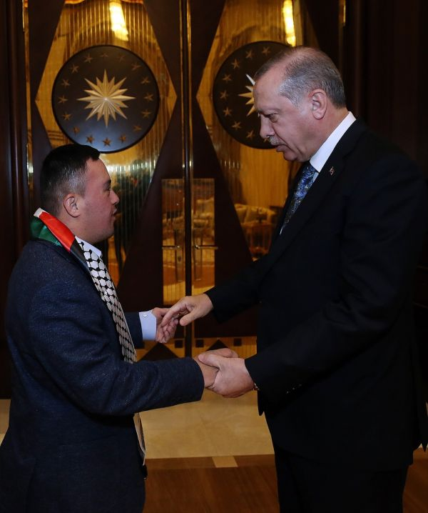 Erdoğan'ın kabulü: Filistinli Muhammed