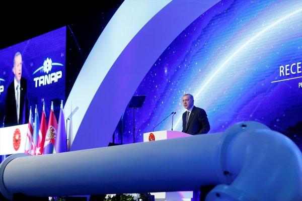 Erdoğan TANAP açılışında konuştu