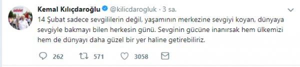 Kılıçdaroğlu, Sevgililer Günü'nü kutladı
