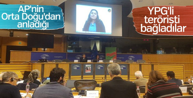 Avrupa Parlamentosu'nda terörist konuşturuldu