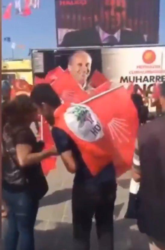 CHP'nin mitingine giden HDP'li