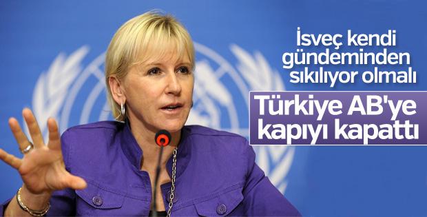 İsveçli bakana göre Türkiye AB'ye kapıyı kapattı