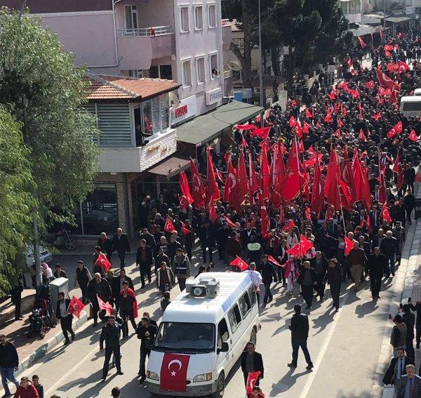 Hatay'da Afrin şehitlerine saygı yürüyüşü