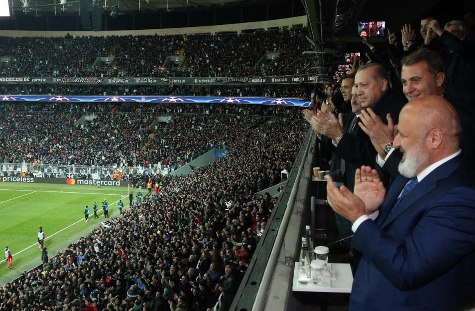 Erdoğan Beşiktaş maçında tribünde