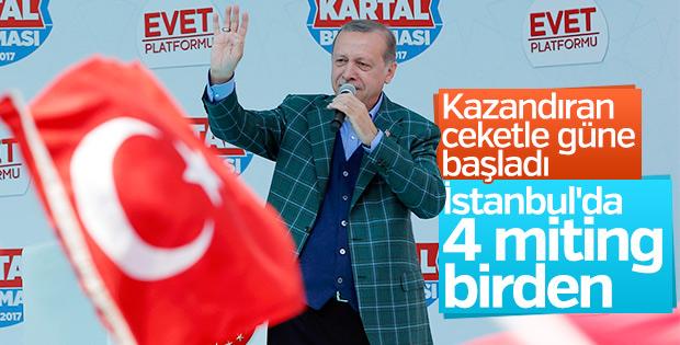 Cumhurbaşkanı Erdoğan'ın İstanbul mesaisi