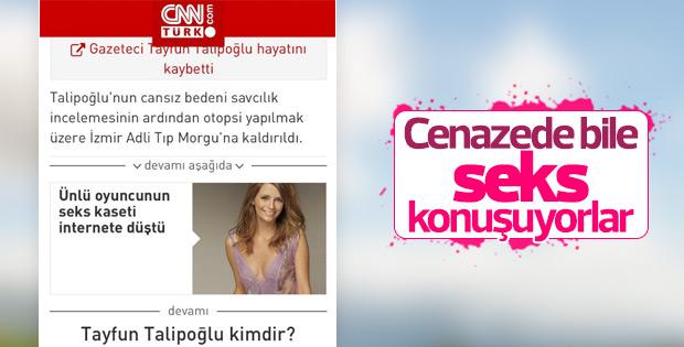 CNN Türk'ün seks haberiyle verdiği, Talipoğlu haberi