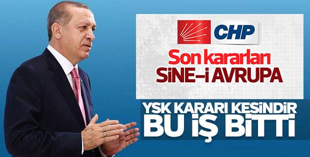 CHP'nin referandum itirazına Erdoğan'dan yanıt