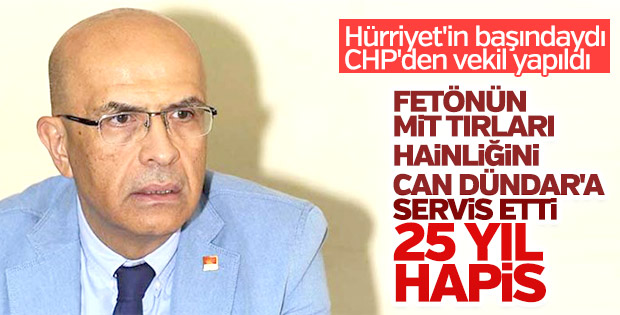 CHP'li Berberoğlu'na 25 yıl hapis cezası