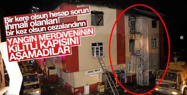 Adana Belediye Başkanı: Yangın merdiveni kilitliymiş