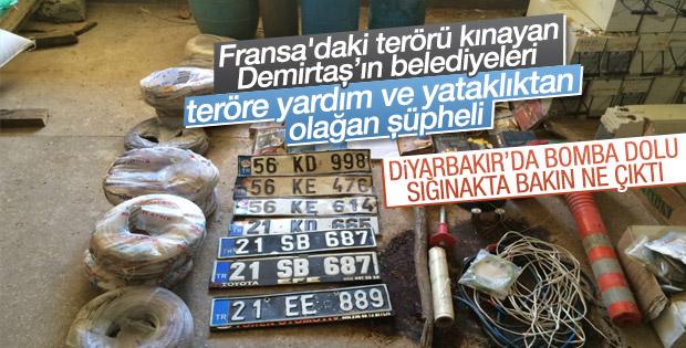PKK deposundan resmi plakalar çıktı