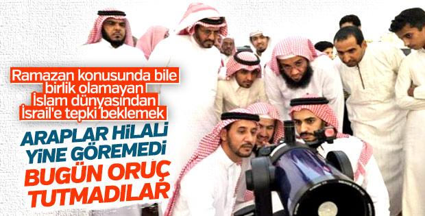 Araplar oruca başlamak için hilali bekliyor
