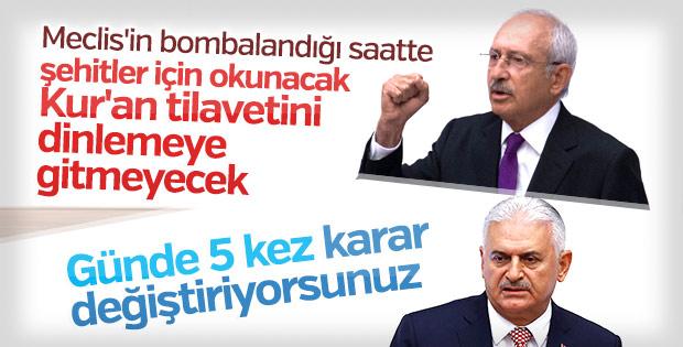 CHP Meclis'teki anma programına katılmayacak