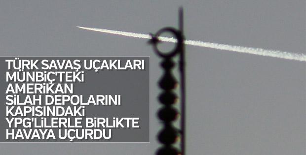 Türk jetleri Münbiç'teki YPG'lilere bomba yağdırdı