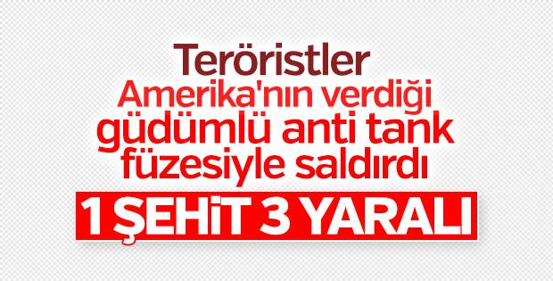 PKK'lı teröristlerden füzeli saldırı: 1 asker şehit
