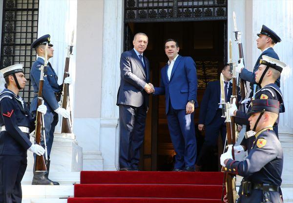 Erdoğan-Çipras görüşmesi