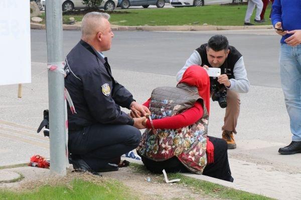 Adana'da bombalı kadın paniği ile ilgili görsel sonucu