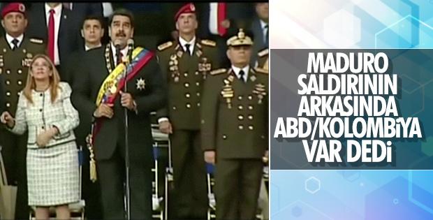 Maduro saldırganların ABD'de yaşadığını söyledi