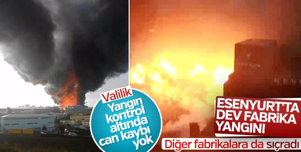 Esenyurtta 3 fabrikada yangın