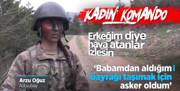 Arzu Astsubay 'komando brövesi' için zorlu eğitimde