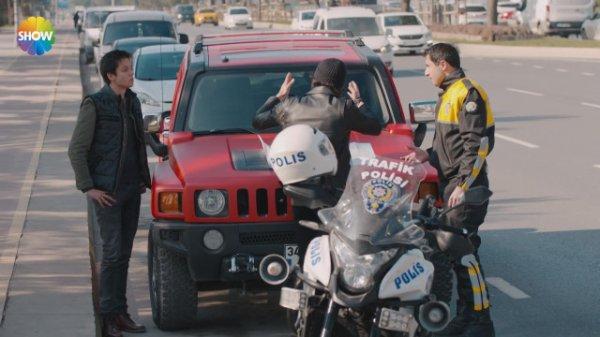 Çukur dizisinde trafik polisine hakaret