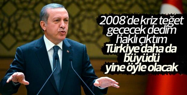 Erdoğan'dan 'Türkiye'nin istikameti sağlamdır' açıklaması